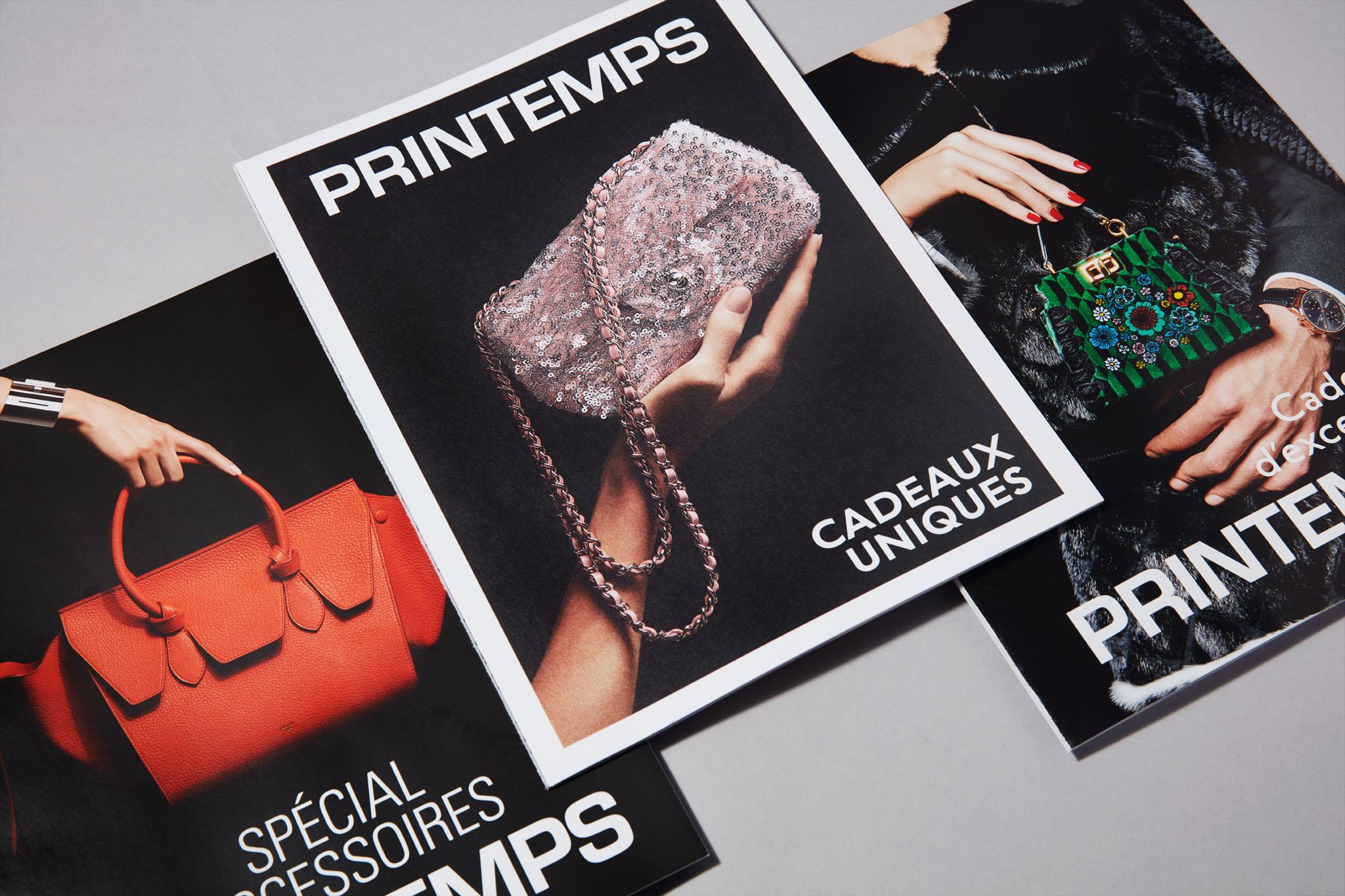 PRINTEMPS Catalogues Accessoires. Maroquinerie. Joaillerie. Luxe.