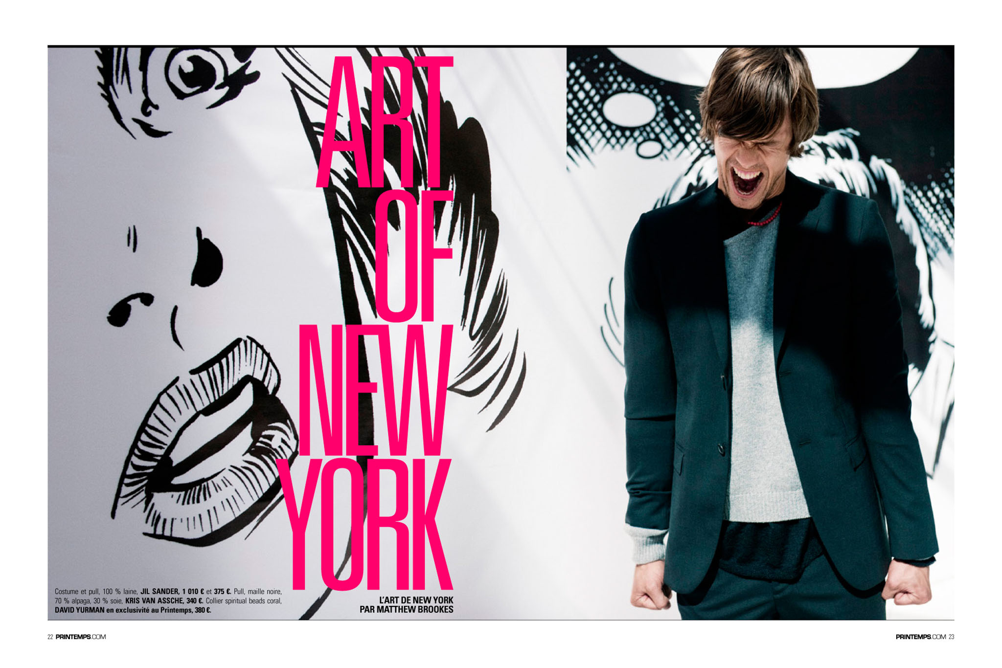 PRINTEMPS Catalogue Homme New York. Mode Homme Jil Sander
