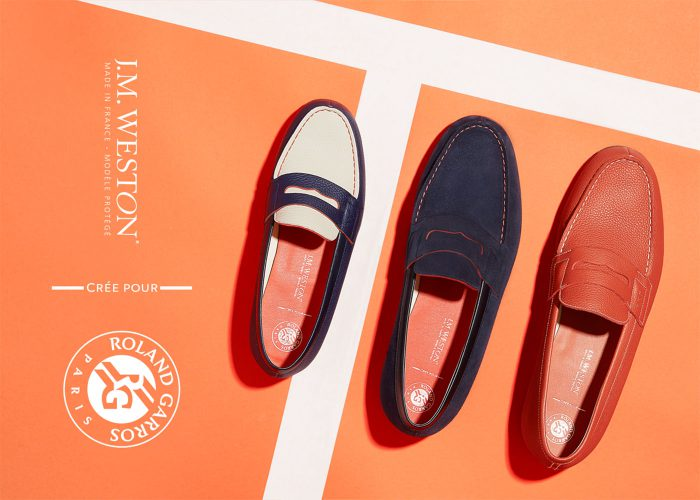 J.M. WESTON x Roland Garros. Mocassin Manufacture française Made in France Soulier Luxe Brand Content Campagne