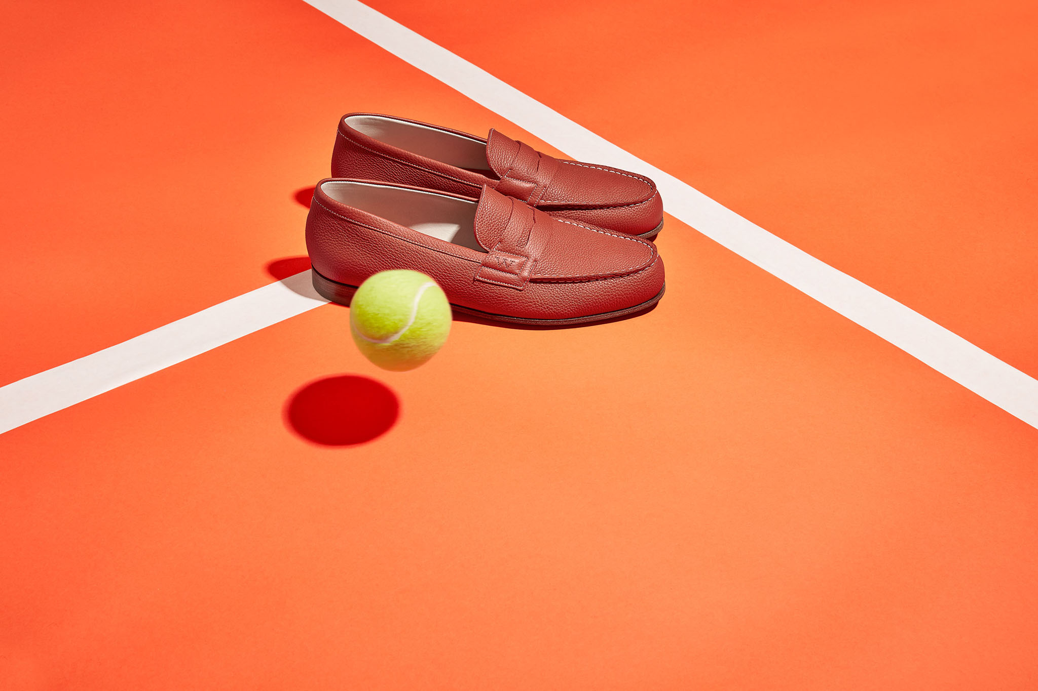J.M. WESTON x Roland Garros. Mocassin Manufacture française Made in France Soulier Luxe Catalogue