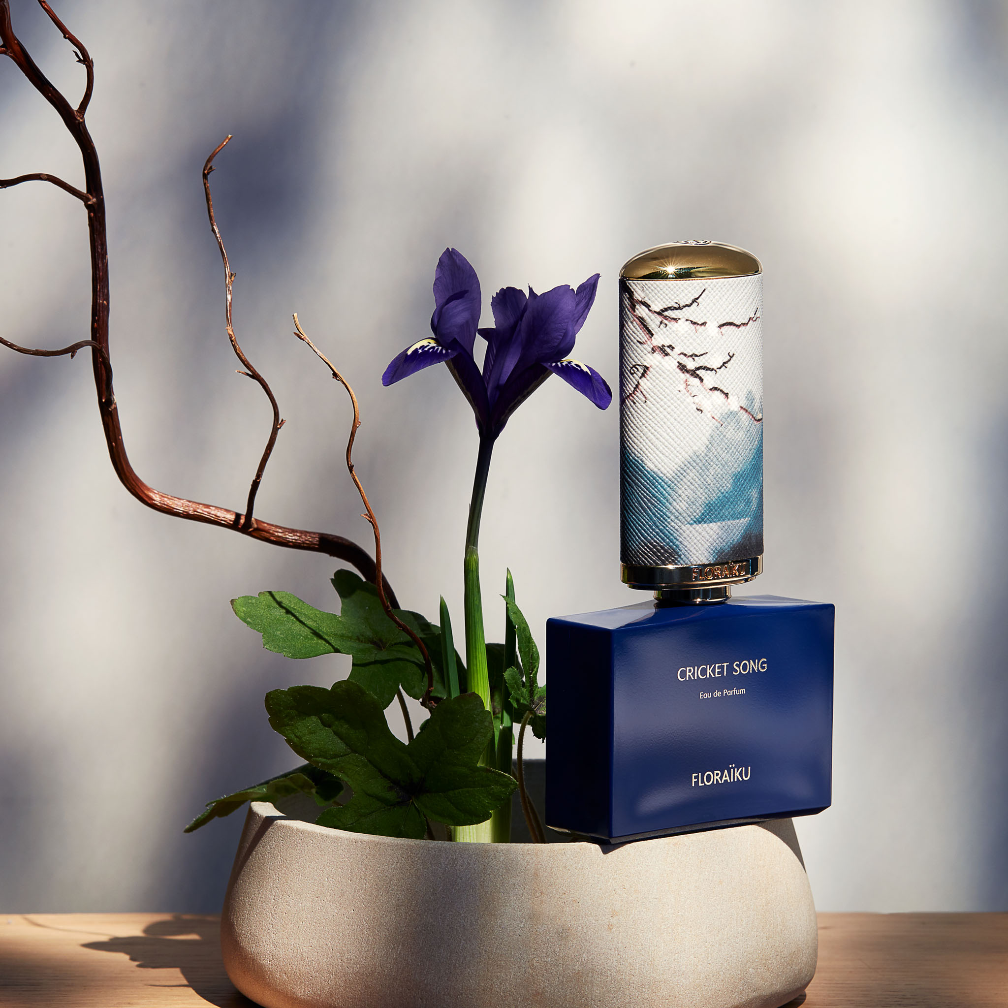 FLORAÏKU Brand Content. Parfum Japon Instagram Photos Cricket Song ikebana