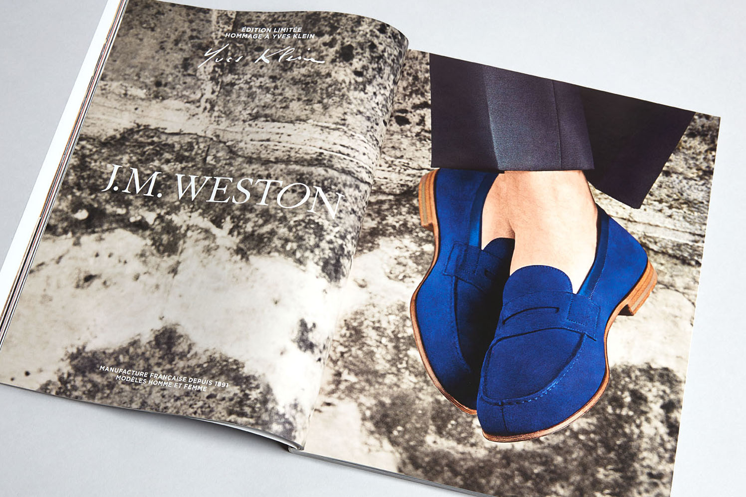 J.M. WESTON Le Moc' 2015. Mocassin Manufacture française Made in France Yves Klein Bleu