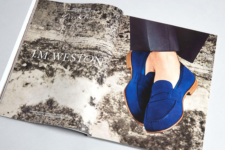 J.M. WESTON Le Moc' 2015. Mocassin Manufacture française Made in France Yves Klein Bleu