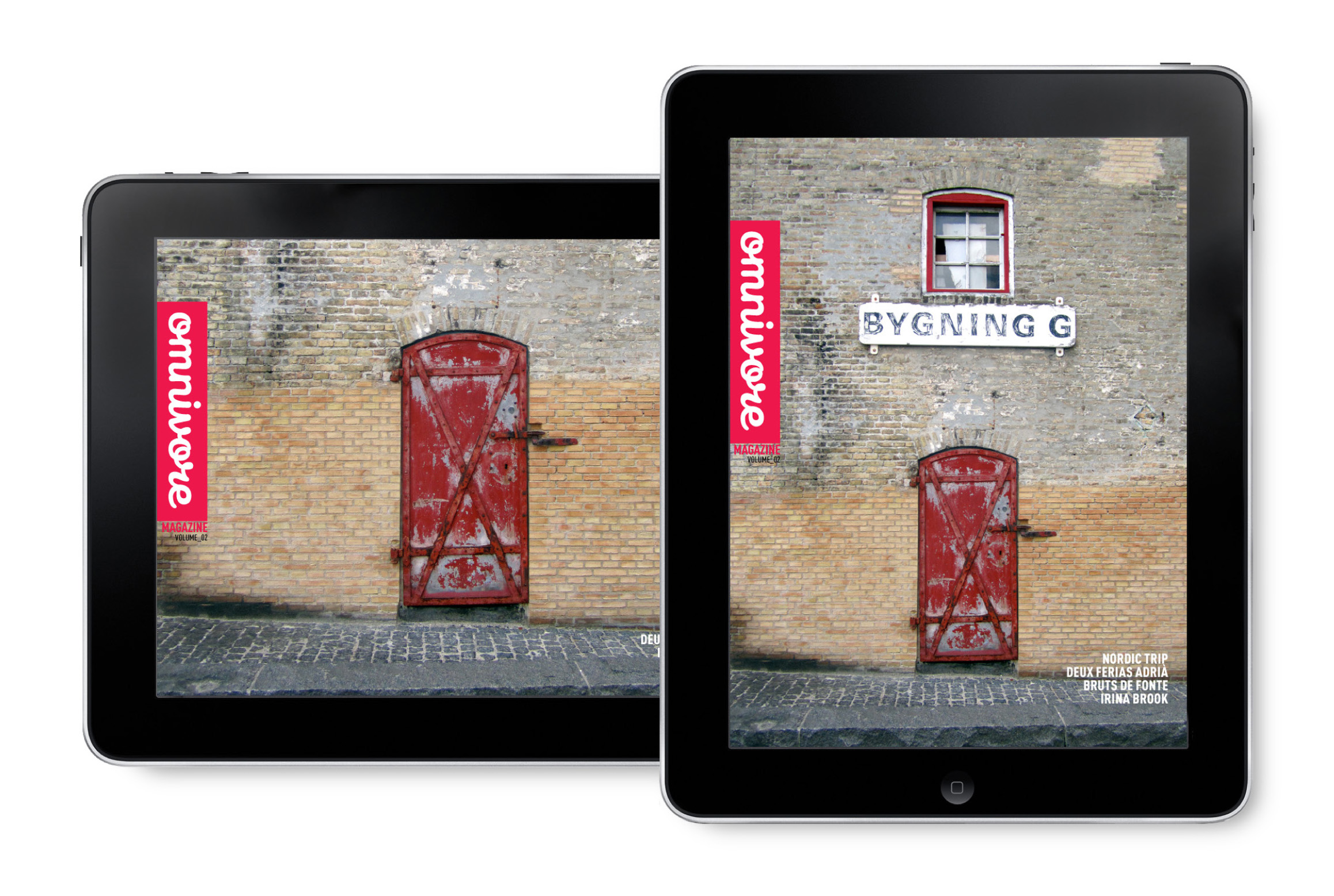 OMNIVORE Guide version Tablette Adaptation iPad Couverture Magazine