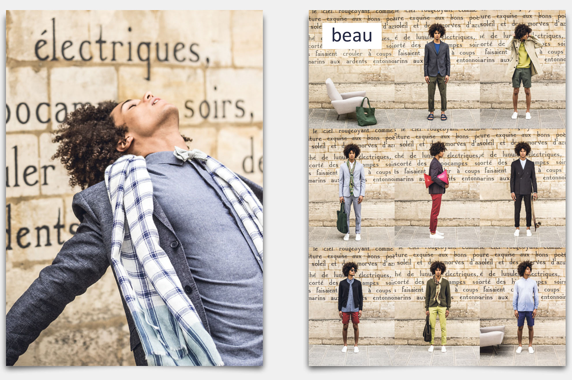 BEAU Lookbook. Mode Homme Paris