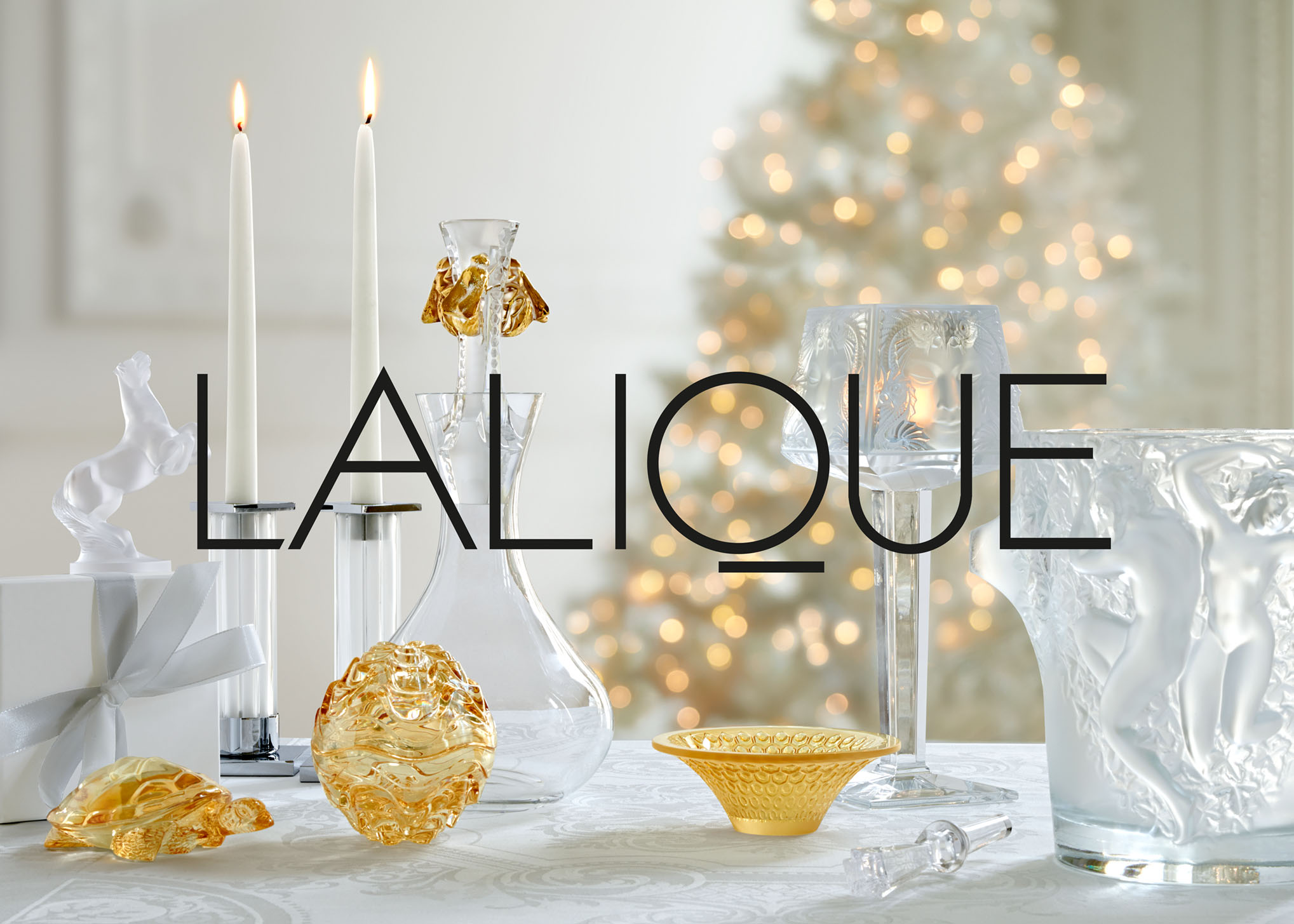 LALIQUE Catalogue Noël. Crystal. Luxe