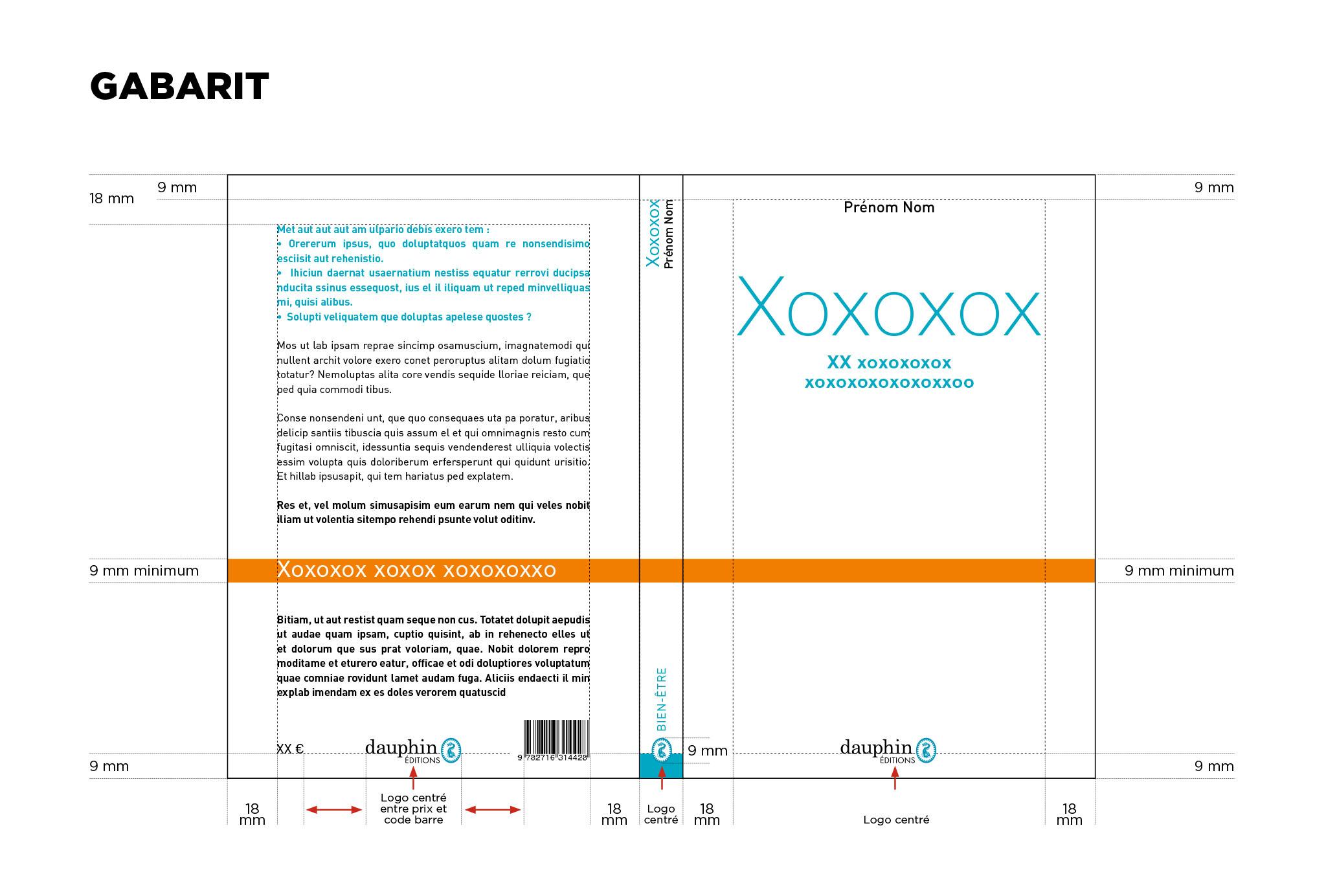 Charte couvertures Dauphin éditions